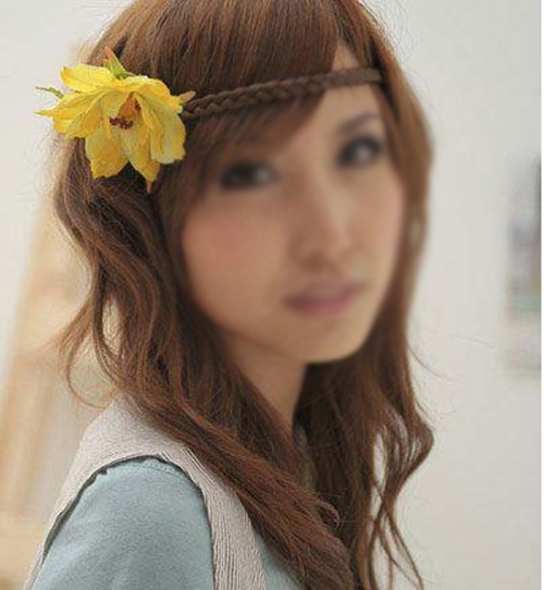 SEWS Fashion Hair Braids Braided Headband Fashion Plaits Hairband - Light Brown(China (Mainland))