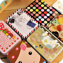Mini Cute Kawaii Cartoon Tin Metal Box Case Home Storage Organizer For Jewelry Kids Toy Gift Home Supplies Free shipping 205(China (Mainland))