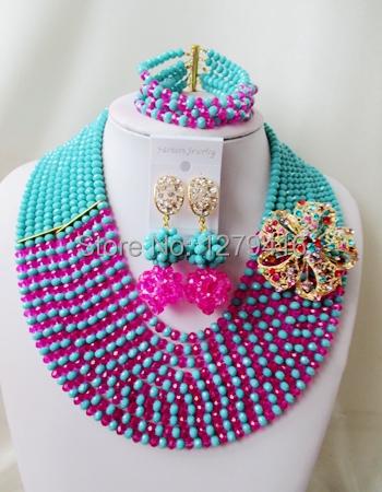 Latest Fashion  crystal beads nigerian wedding african beads jewelry set costume jewelry sets  ASD878<br><br>Aliexpress