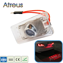 1Pcs Car LED License Plate Light 12V Canbus LED Logo projector Laser Number Plate Lamp For Audi A6 S6 A3 A4 Q5 A7 S5 S7 Q3 TTS