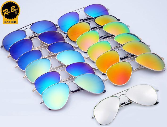 Classic RB 3025 Sunglasses Women Men Brand Designer Rb aviator brands retro frog glasses With Logo oculos de sol feiminino(China (Mainland))