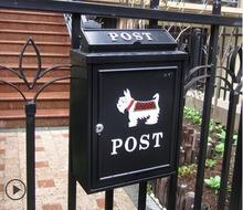 Continental aluminum panel can mail villa mailbox mailbox outdoor newspaper boxes waterproof garden(China (Mainland))