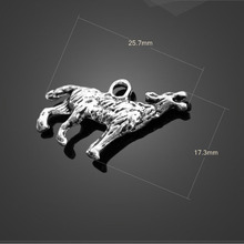 Buy High 20 PCS/Lot 17.3mm*25.7mm antique silver plated animal snow wolf charms DIY jewelry for $2.18 in AliExpress store