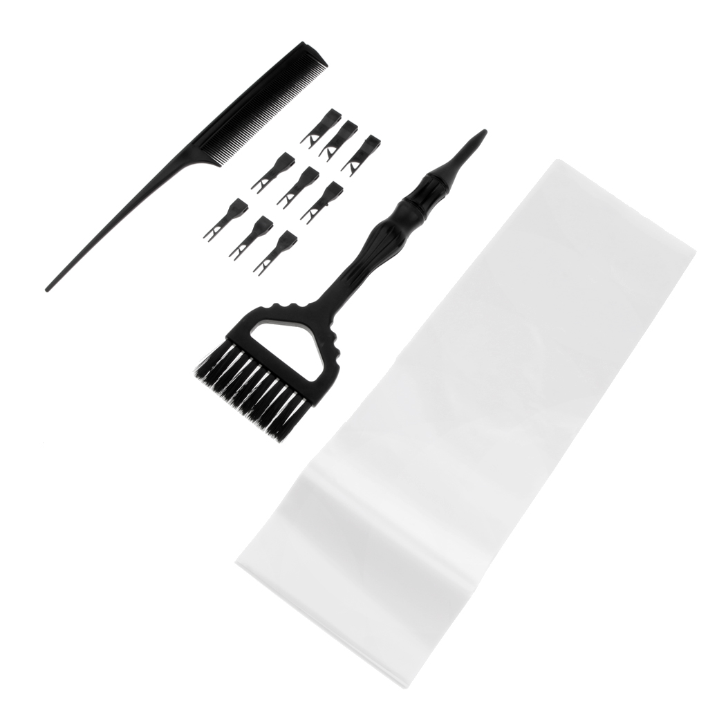 3 In 1 Salon Hair Coloring Kit Weave Comb Highlight Brush Hair Perm Paper Set