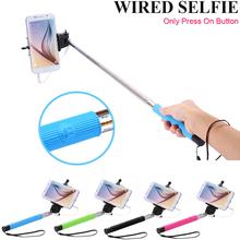 General Flexible Monopod Self Holder Built-in Shutter Extendable Selfie Stick For Sony HTC LG Wired Handheld Palo Selfie Tripod