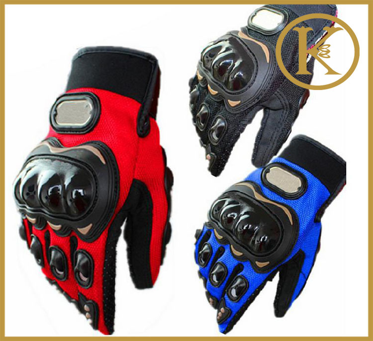 4 colors Pro-biker Motorcycle Bike Full Finger Performance Gloves Motocross Off-road Sports Gloves Racing Knight Protective D6(China (Mainland))