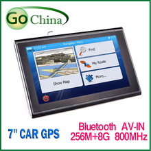 Car GPS navigation navigator 7 inch MTK Vehicle navigator bluetooth AV-IN 256M 8G 800MHz Wince 6.0 gps usa europe (China (Mainland))