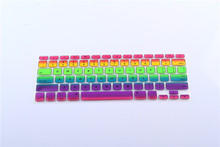 UK/EU Rainbow Laptop Keyboard Silicone Skin Protector Cover film Sticker for apple Macbook Pro Air 13 15 17 Retina 13