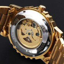 Winner personalized fashion glamor luxury automatic mechanical watch male watch hollow steel JWH050