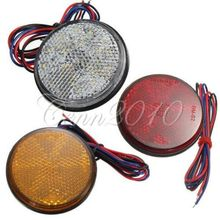 3 Colors LED Round Reflector Brake Stop Marker Light Indicator Truck Trailer Van(China (Mainland))