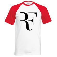 2016 nueva verano hombres camiseta RF Roger Federer raglán t camisa de moda 100% algodón hip hop loose tapas de la camiseta camisetas de la marca ropa(China (Mainland))