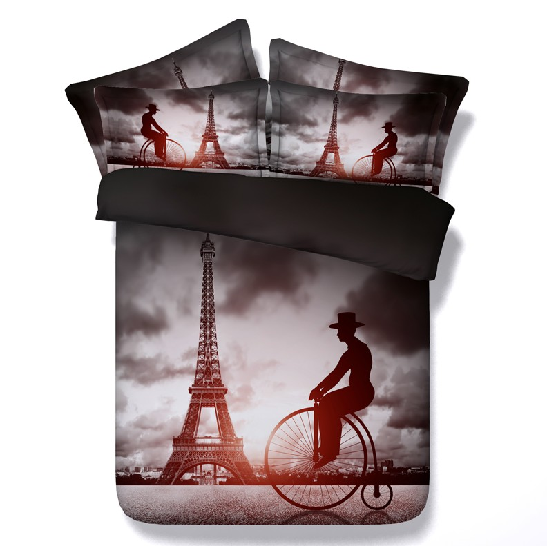 achetez en gros tour eiffel couette ensemble en ligne des grossistes tour eiffel couette. Black Bedroom Furniture Sets. Home Design Ideas