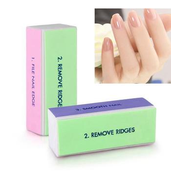 2 Pcs Professional Colorful 4 Way Nail File Buffer Polishing Block Sanding Nail Art Manicure Nail Art Tools