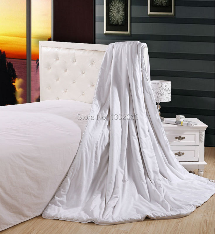 Factory Sale Summer Whites 100% Mulberry Silk Blanket Comforter Quilt---Size Full Or Make Any Size(China (Mainland))