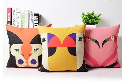 Creative cartoon cute adorable couple cotton pillow cushion sofa cushion fashion gift bedroom Office(China (Mainland))