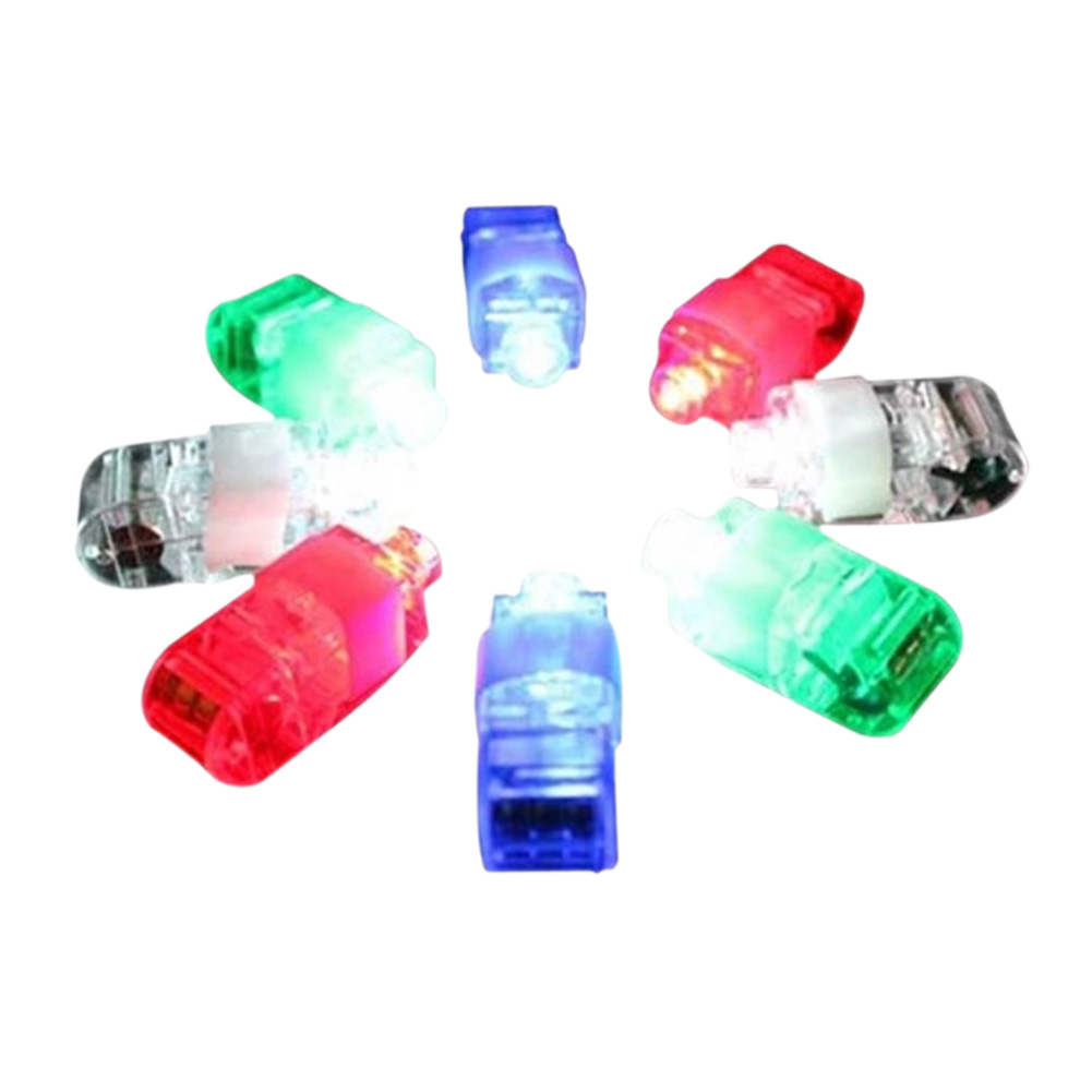 NEW 8 Color LED Laser Finger Ring Lights Beam Torch Party Color will send at random(China (Mainland))