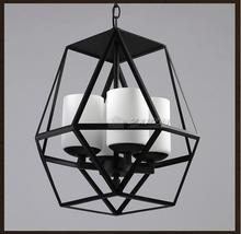 American Country Vintage Cage Pendant Lamp Nordic RH Loft  Coffee Bar Hanglamp Restaurant Pendant Light Fixtures Brief E27 Lamps