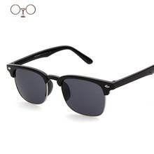 Мода полукадр бренд дизайнер солнцезащитных очков площадь солнцезащитные очки ретро полуободковые дамы мужской Eyeware lunttes 6130