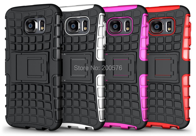 TPU&PC Hybrid Dual Armor Heavy Duty case Galaxy S6 stand G920 Protective Skin Double Color Shock 1# - Guangzhou R&Star Co., Ltd. store