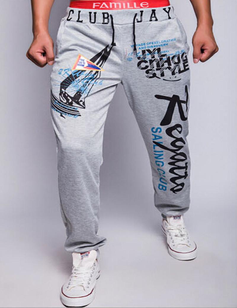 2015Four seasons letters printed men pants men's casual pants sports enthusiasts Bottoms mens joggers multicolor men sweatpants(China (Mainland))