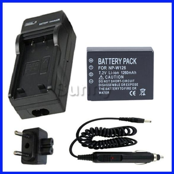 Battery + Charger for Fujifilm NP-W126,NP W126 and FinePix HS30EXR, HS50EXR, X-A1, X-E1, X-E2, X-M1, X-Pro1, X-T1 Digital Camera(China (Mainland))