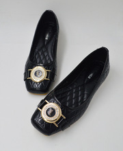2015 new European flat shoes Asakuchi Dichotomanthes diamond size shoes 928 88