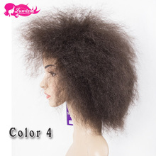 Ali Lumina Cheap Afro Kinky Synthetic Lace Front Wig African American Short Wigs For Black Women Ombre Red Blonde Female Wig(China (Mainland))