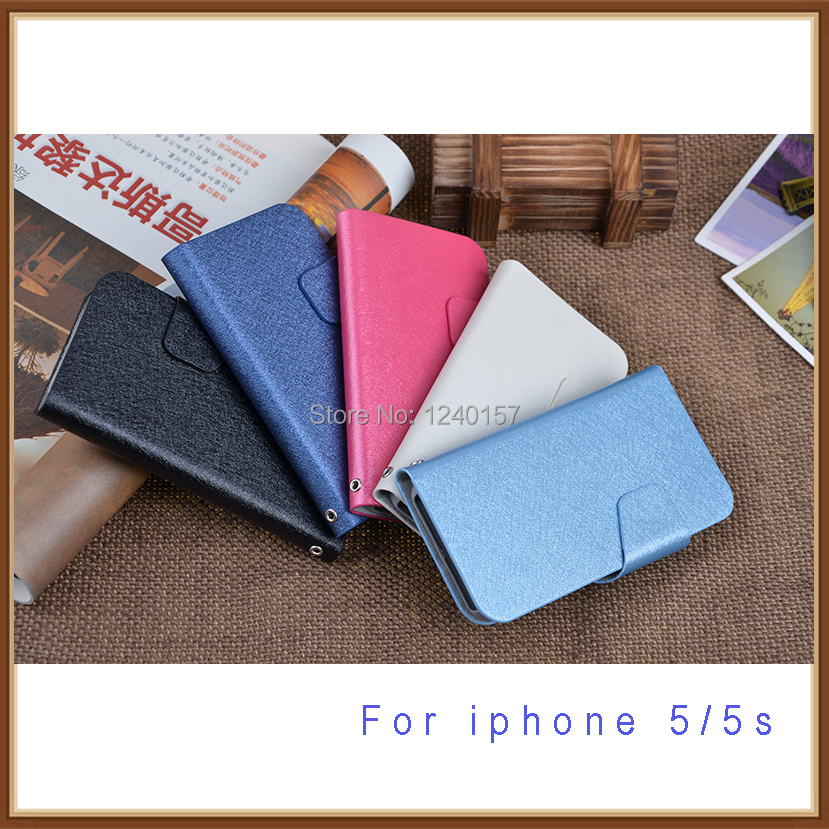 Wholesale supplier mobile phone case for iphone 5 5s 5G wallet bags design with holder 2014 hot selling free shipping(China (Mainland))