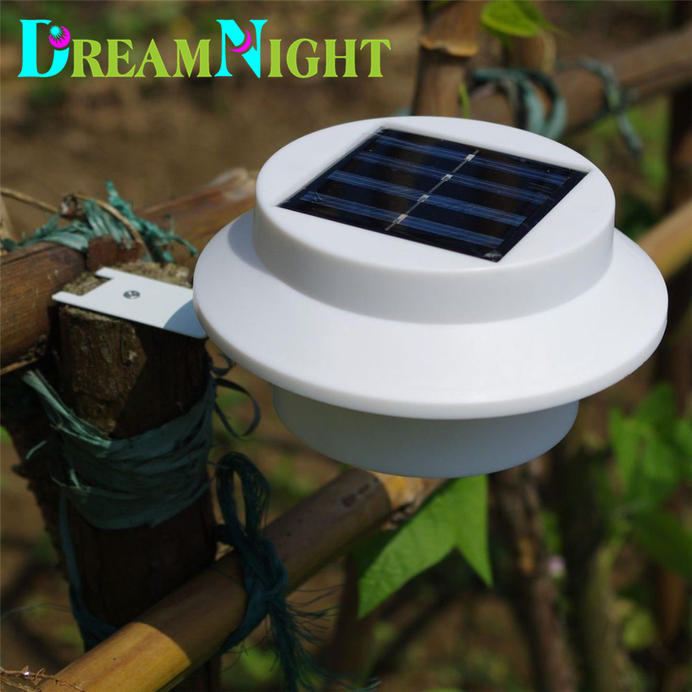 New Arrival! 3 leds light sensor control Solar Powered Fence Gutter Solar Lights, Outdoor Security Solar Lamps free shipping<br><br>Aliexpress