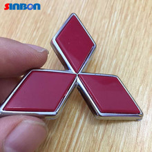 New 3D Emblem ABS mitsubishi Logo car Badge front rear trunk decal Pajero Lancer Montero Weatherproof sticker for  Car styling(China (Mainland))