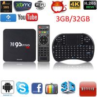 Docooler M9S-PRO 4K 3GB 32GB Smart Android 5.1 TV Box Amlogic S905 Quad Core 64bit KODI 16.0 WiFi H.265 Miracast With Keyboard