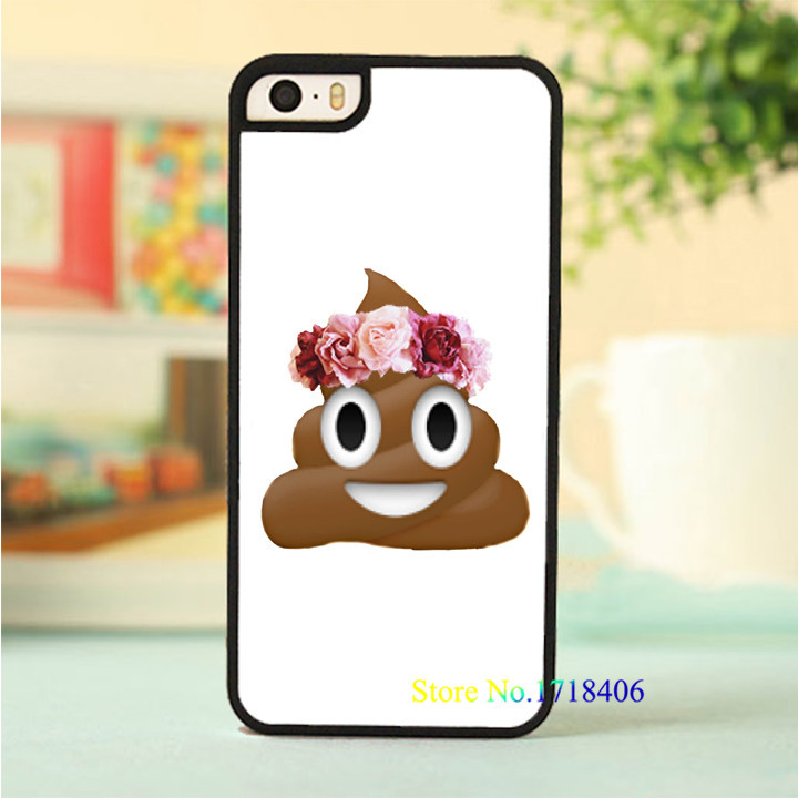 Emoji Poop fashion original cell phone case cover for iphone 4 4s 5 5s ...