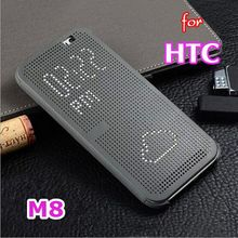 Slim Dot Bag Smart Auto Sleep Wake View Shell Soft Silicone Original Flip Leather Cover Shockproof Phone Case For HTC One M8 M8s