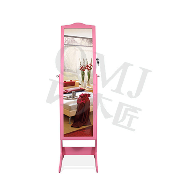 Large floor standing jewelry armoire stand mirror case organizer ...