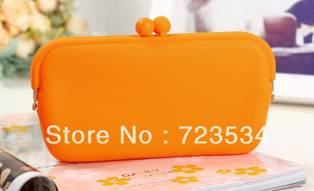 Rubber Silicone Pouch Purse Wallet for Glasses Cellphone Cosmetic Coin Bag Case free shipping 50pcs/Lot