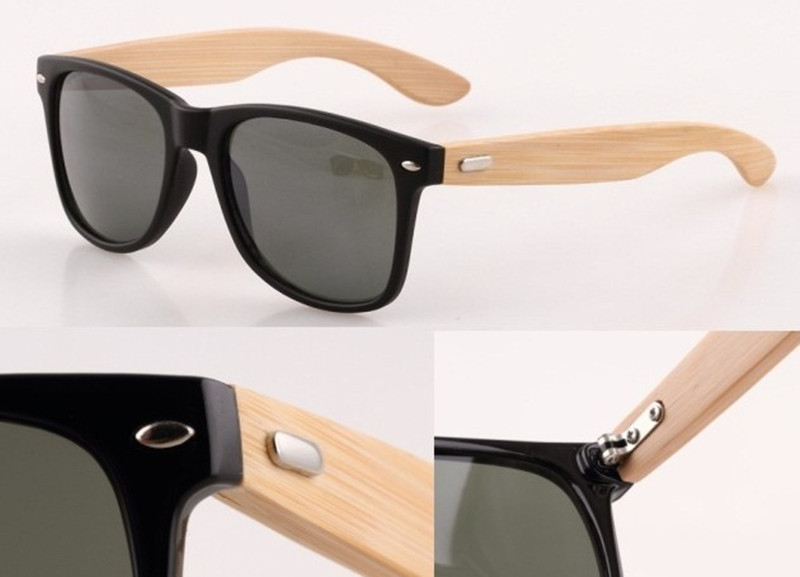 Bamboo Sunglasses Men Wood sun glasses Oculos De Sol Masculino Wooden Sunglasses Women Brand Designer Gafas De Sol wood glasses(China (Mainland))
