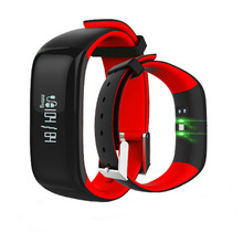 """Buy P1 Bluetooth Smartband Blood Pressure Monitor Heart Rate Monitor Wristband Waterproof IP67 Smart Bracelet Wearable 0.86"""" OLED 2 for $25.98 in AliExpress store"""