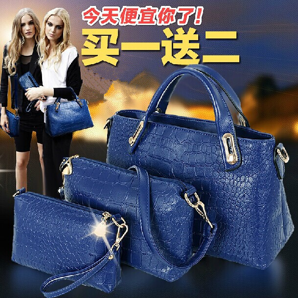Composite Pocket European And American Casual Famous Ladies Tote Women Clutch Bags Buy One Get Two free Bolso Spanish(China (Mainland))