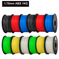 ABS 1 75mm 1Kg spool Plastic Rod Rubber Ribbon Consumables Material Refills for MakerBot RepRap UP