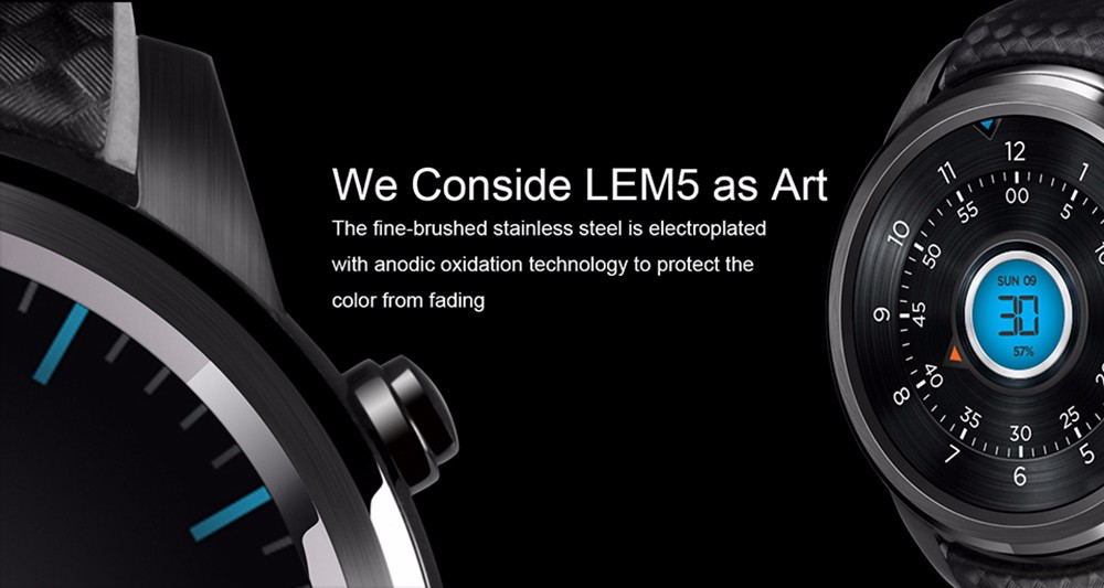 2016 new popular LEM5 smart watch 1GB+8GB MTK6580 Quad Core wristwatch for android IOS smartphones Greek Hebrew languages