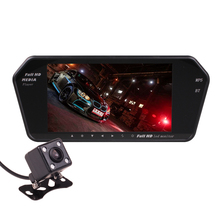 """In Car 7"""" Inch Rearview Mirror HD Monitor and Mp3 MP4 MP5 Media Player FM Transmitter Bluetooth Hands Free Kit Reverse Parking(China (Mainland))"""