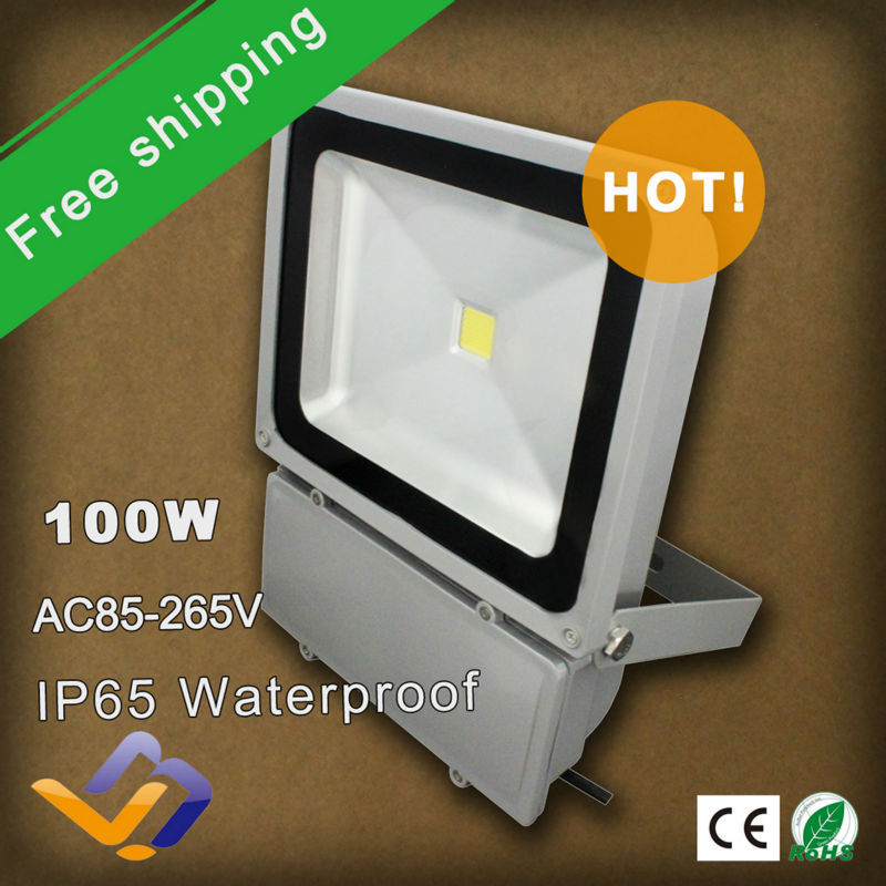 5pcs/lot free shipping 100W high power LED Flood Light advertising board lamp W/R/G/B/Y single color Outdoor Lighting lamp<br><br>Aliexpress