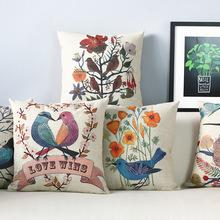 American ,Japan Korean Rustic bird Pillow Cushion