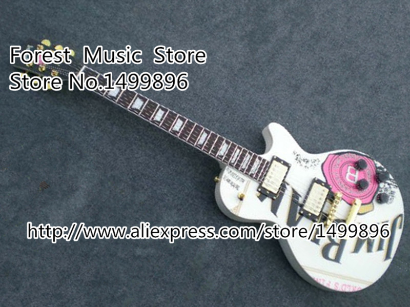 China Custom Shop DIY White Top 22 Frets LP Standard Electric Guitar with Ebony Fingerboard Custom Available<br><br>Aliexpress