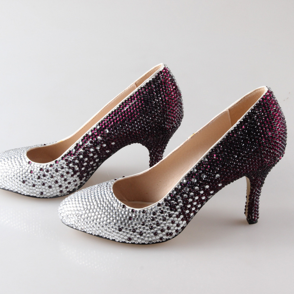 Purple Bridal Heels