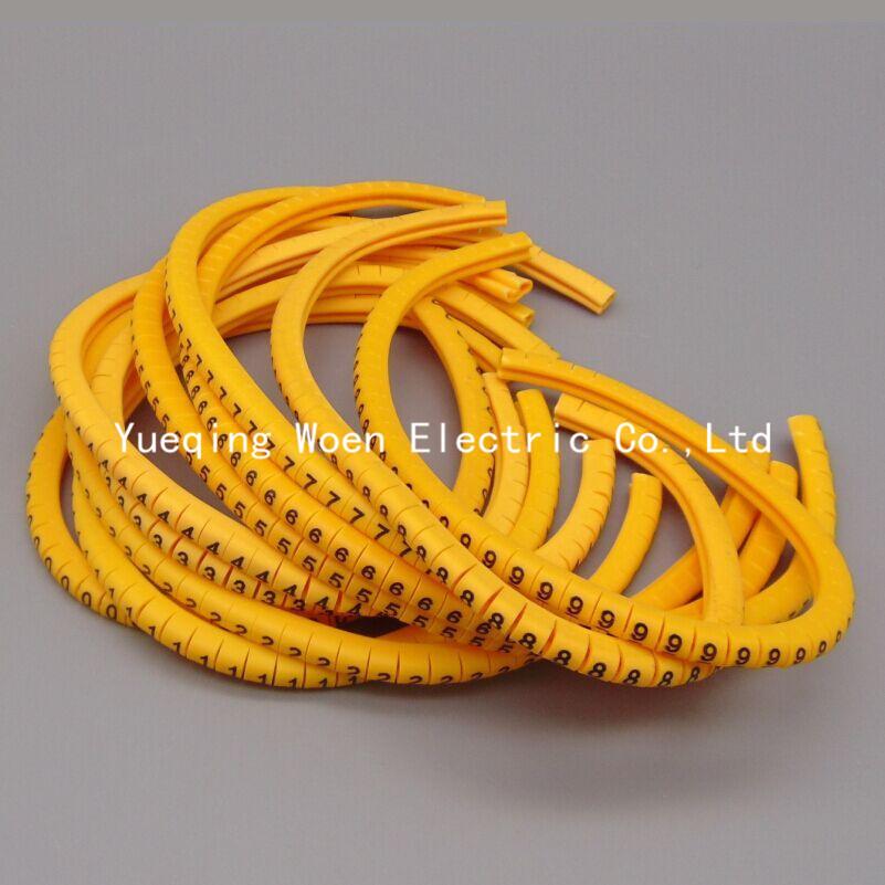 Гаджет  EC-2 4mm Cable Wire Markers Letter 0 to 9 X 600 (Each 60pcs ) None Электротехническое оборудование и материалы