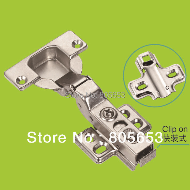 35mm furniture and cabinet door hydraulic half overlay slide on hinge (HH1412)(China (Mainland))