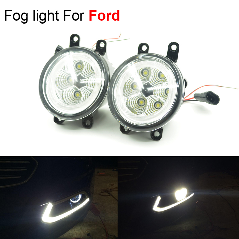 Newest 6x3W Car Styling LED Angel Eyes Light Foglights Assembly For Ford Focus 2 3 Fusion Mondeo Explorer Fiesta Free Shipping<br>