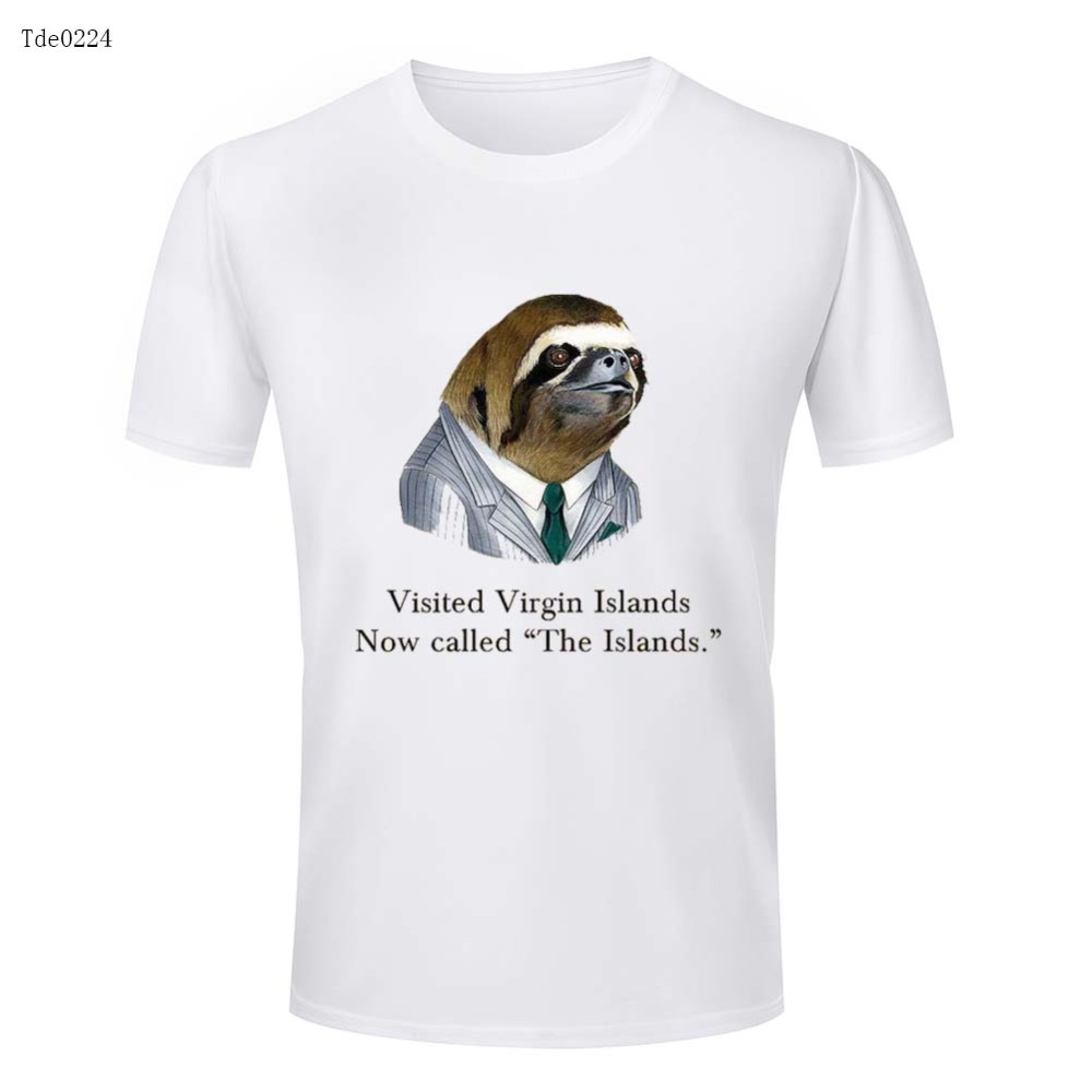 Virgin Island Round Neck Mens T Shirts Promotion Solid Color Mens T Shirt Summer Casual 3d Designed Mens t-shirts(China (Mainland))