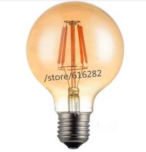 ST64 G80 G95 Gold E27 4W 6W 8W COB LED AC220V AC85-265V Lamp Filament Glass Blub Light Retro Candle lights 2300k warm white - Shenzhen Stars Technology Co., Ltd store